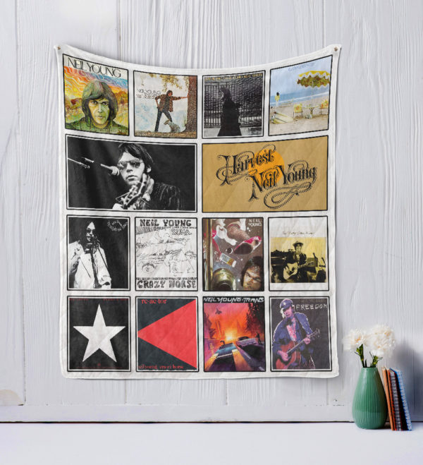Neil Young Quilt Blanket