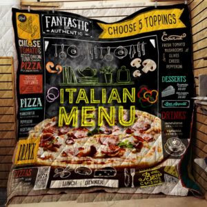 I Love Pizza Quilt