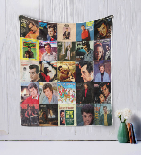 Conway Twitty style 2 Quilt Blanket