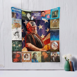 Willie Nelson style three Quilt Blanket