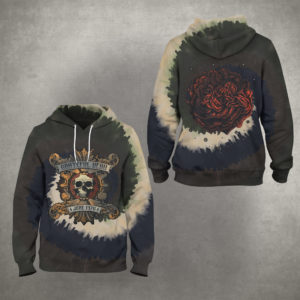 Grateful Dead June 1976 Tie Dye 3D Hoodie