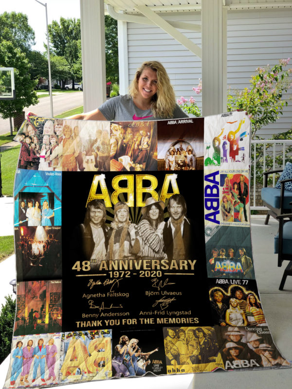 ABBA - 48th Anniversary 1972-2020 Thank For The Memories Quilt Blanket